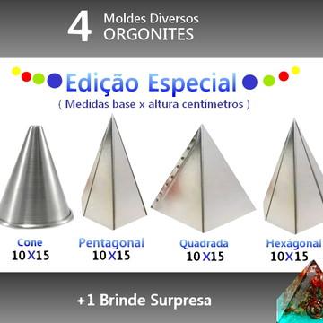 4 MOLDES ORGONITES - EDIÇÃO ESPECIAL