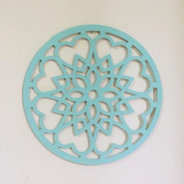 Mandala Decorativa Verde Água