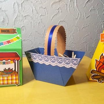 Kit 3 Caixinhas Festa Junina