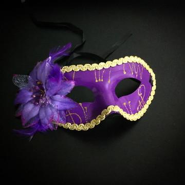 Máscara Veneziana Lilás
