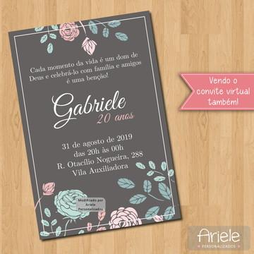 Convite - Floral