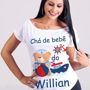 Bata Canoa - Cha Bebe Mãe Baby Urso Marinheiro