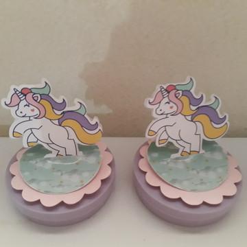 Latinha personalizada em scrap Unicornio