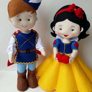 Branca de neve, Príncipe e Rainha Má em feltro