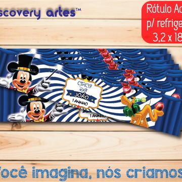 Rótulo refrigerante Circo do Mickey