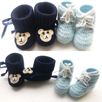 Botinhas para bebê.