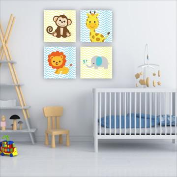 Kit Animais Bebê Placas decorativas Quarto