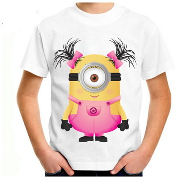camiseta infantil minios menina