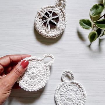 Ecopads 5 Discos Crochê 100% algodão