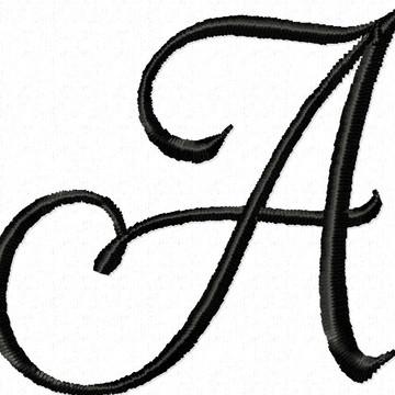 Matriz Bordado Alfabeto Completo Script