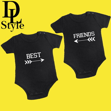 Body personalizado Gêmeo Best Friends