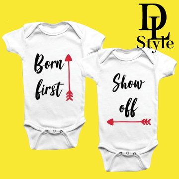 Body personalizado Gêmeo Born First, Show Off