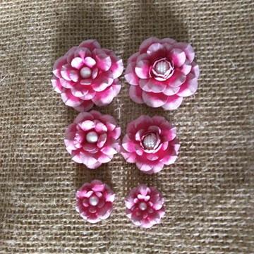 Flores scrapbook (kit Pink)