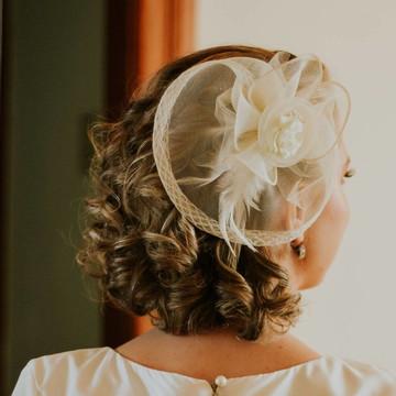 Casquete Vintage Noiva