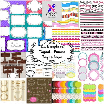 100 Kits Scrapbook Digital Frames