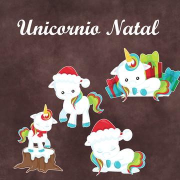 Recortes - Unicórnio Natal