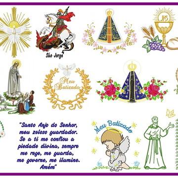 Kit Nº 11 c/ 4 mil matrizes EM PES Religioso Matriz Bordado
