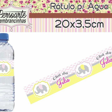 Adesivo para Água Elefante Rosa