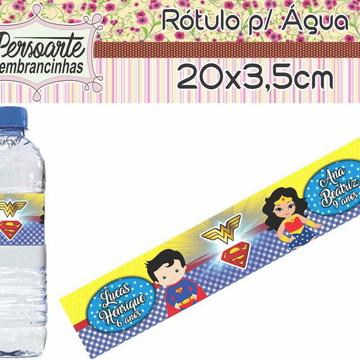 Adesivo para Água Super Man e Mulher Maravilha
