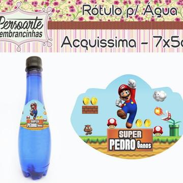 Adesivo para Água Mario Bros