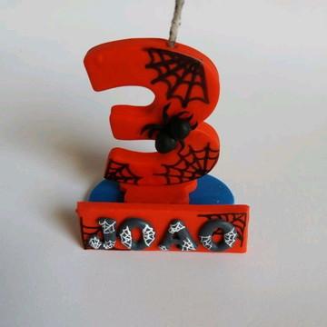 vela aniversario homem aranha