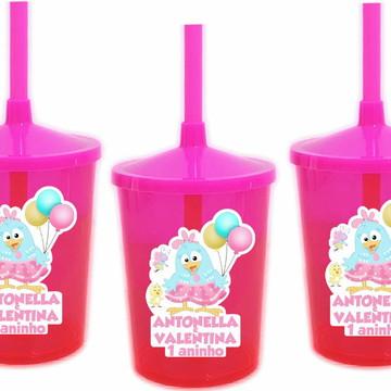 Adesivo para Copo Twister Galinha Pintadinha Candy Colors