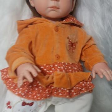 Bebê Reborn - Carmela - Olhos Azuis/Castanhos -