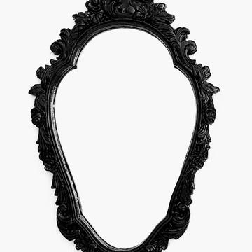 Espelho Decorativo Veneziano Chippandelle Preto Laca