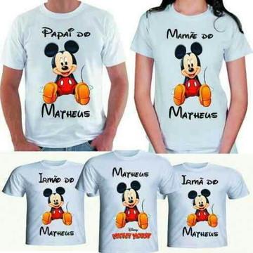 Camisetas personalizadas família aniversário