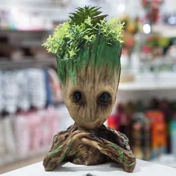 Baby Groot Vaso Suculentas Cacto Mãos Cruzadas Planta Resina