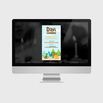 Convite Dino Baby PARA IMPRIMIR