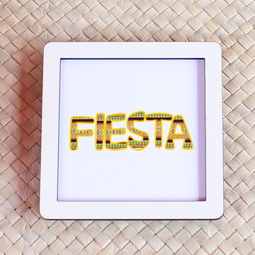 Placa/quadrinho com impressão - fiesta mexicana