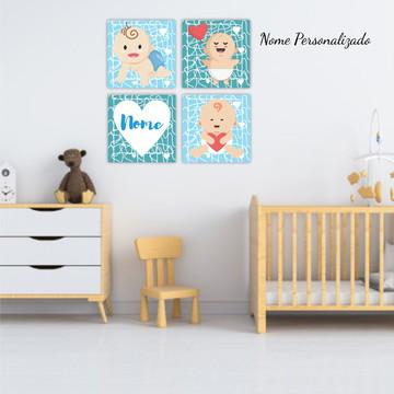 Placas Decorativas Kit Infantil Bebê Quarto Decoração