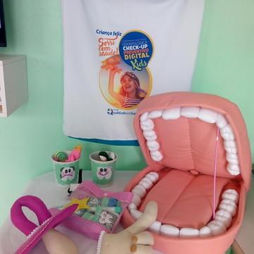 Boca lúdica gg 60 CM com Kit higiene bucal,