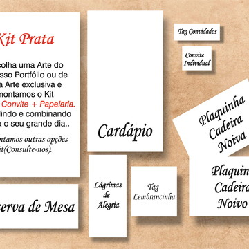 Arte Digital - Kit Convite + Papelaria.