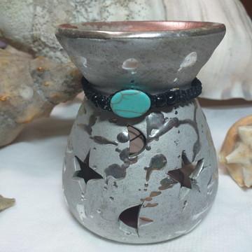 Pulseira Macrame Basica com Pedra Turquesa