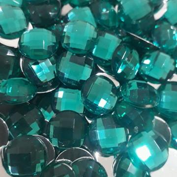 Chaton 10mm Verde Esmeralda 100 Unidades