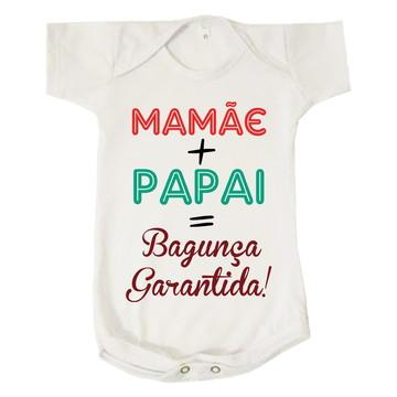 Body Bebê Mamãe + Papai = Bagunça Garantida
