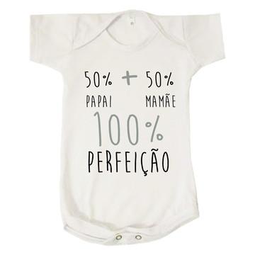 Body Bebê 50% Papai + 50% Mamãe = 100% Perfeição