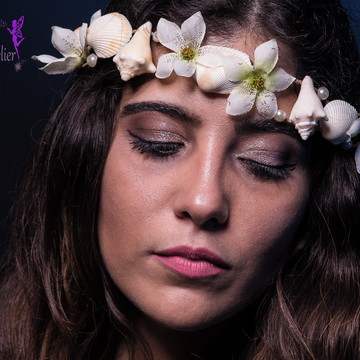 Coroa Casamento - Flores e Conchas