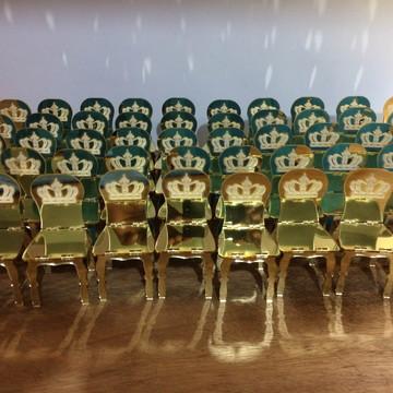 Promoção Lembrancinhas Mini Cadeirinhas Acrílico Dourado