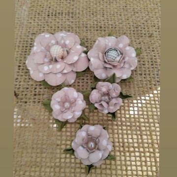 Flores para scrapbook ( Kit Carol) )