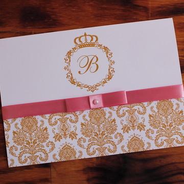 Convite 15 anos dourado rosa Convite Casamento promoção
