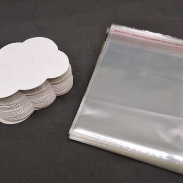 Embalagem Para Laços Completo Nuvem + Saquinho Adesivado