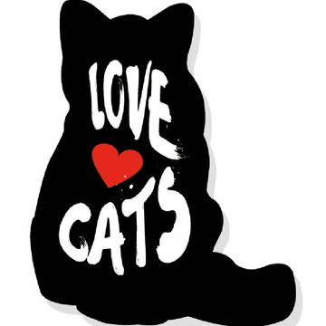 Placa Recortada MDF Love Cats Gatos Amor Animais PET