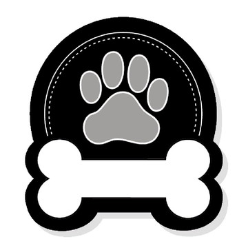 Placa Recortada MDF Patinha de Cachorro Osso Animais PET Dog