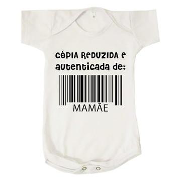 Body Bebê Cópia Reduzida e Autenticada de Mamãe