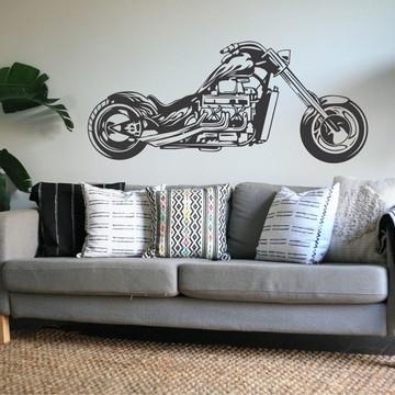 Adesivo Parede Decoração Moto Harley