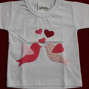 Camiseta Personalizada de Passarinhos