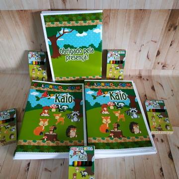 Livro de colorir floresta/woodland